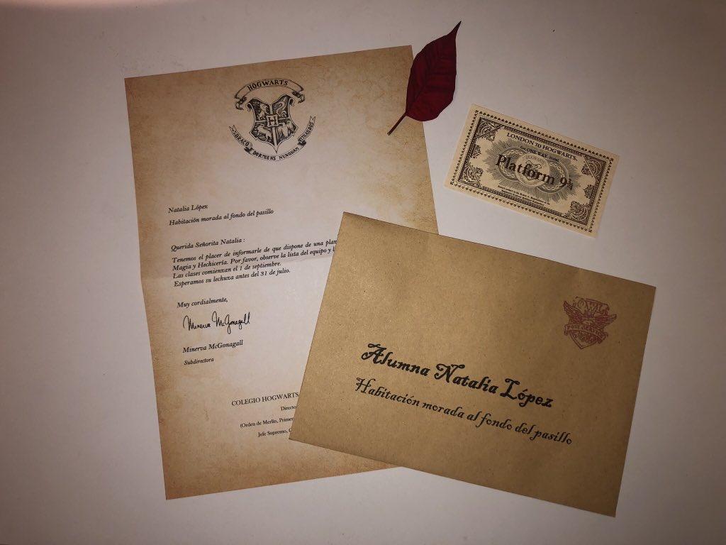 Tu Carta De Hogwarts Totalmente Personalizada Friki Maestro