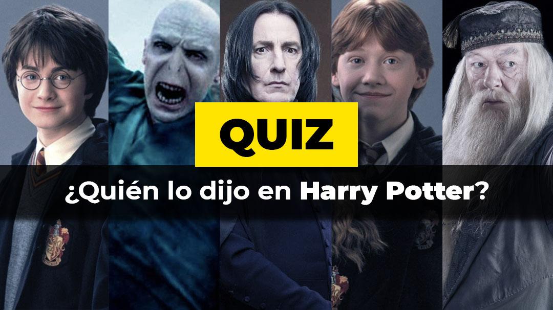Quién lo dijo edición Harry Potter