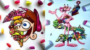 Artista reimagina las caricaturas que marcaron tu infancia