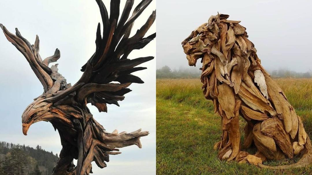 Esculturas madera artista