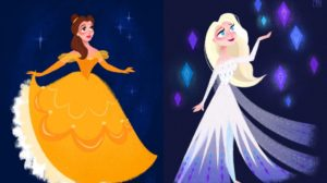 Los fan arts de Disney de Kellie Bartlett