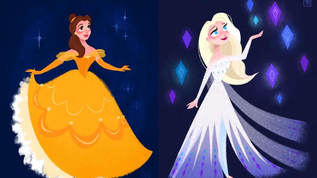 Los fan arts de Disney de Kellie Bartlett
