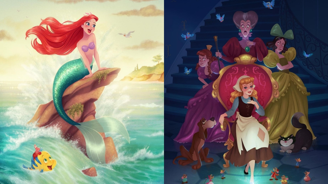 Las maravillosas ilustraciones Disney