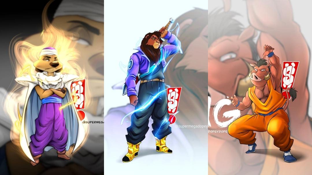 Cuando fusionas Dragon Ball y el Rey Leon