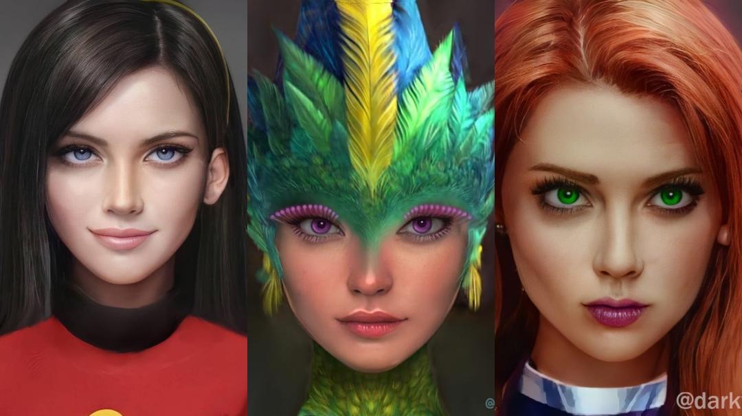 Personajes de animación si fuesen reales
