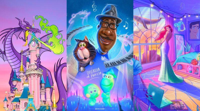 Las ilustraciones Disney de Jorge Serrano