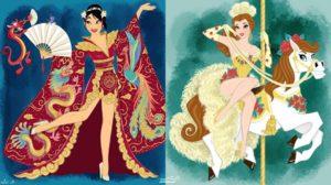 Las ilustraciones de las princesas Disney de Danielvs