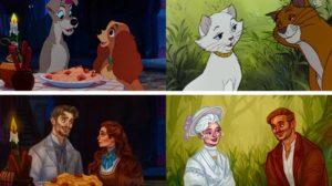 Personajes de animación como personas