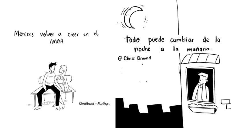 Los dibujos sobre la vida real de Chriss Braund
