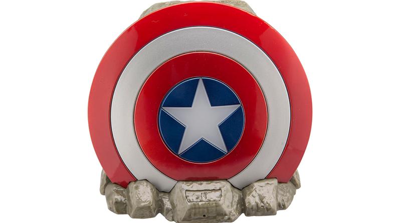 Puedes tener un altavoz del escudo del Capitán América