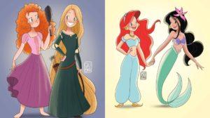 Las princesas Disney se cambian la ropa