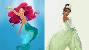 Los fan arts de princesas Disney de Alicia