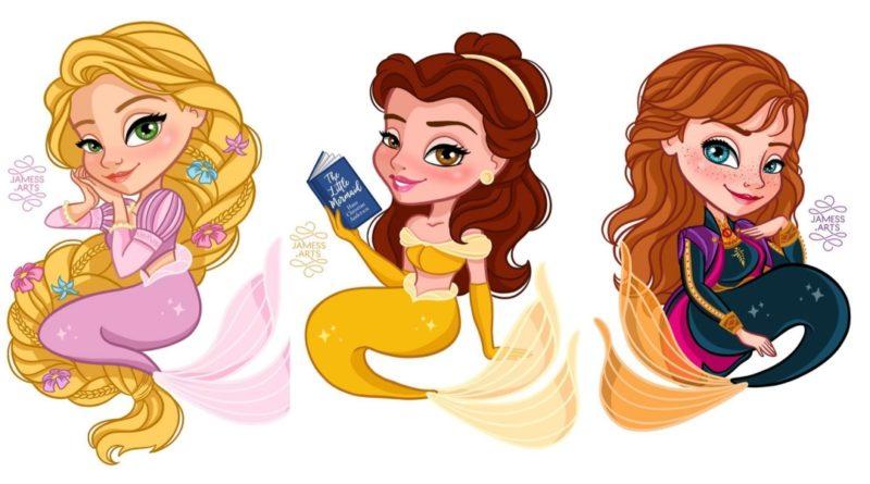 ¿Qué pasaría si las princesas Disney fueran Sirenas?