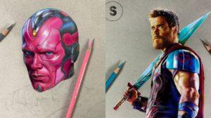 Las ilustraciones de superheroes de Soach_art