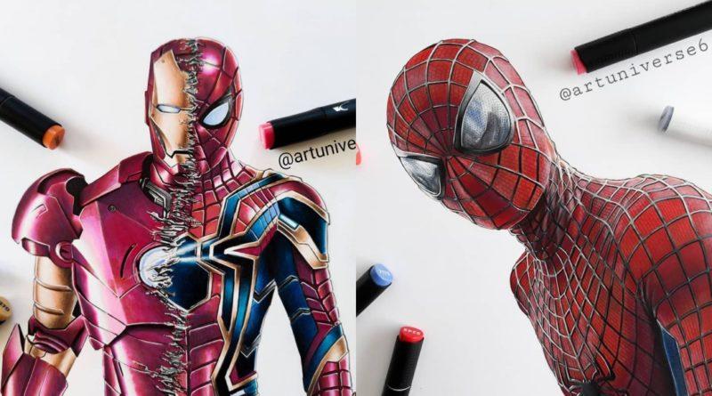 Las ilustraciones de Marvel de ArtUniverse6