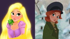 Las ilustraciones sobre Disney de Angélica