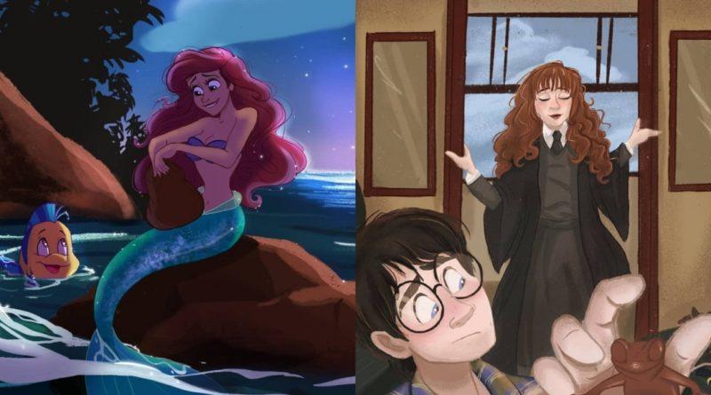 Los fan arts animados de Caro y Jess