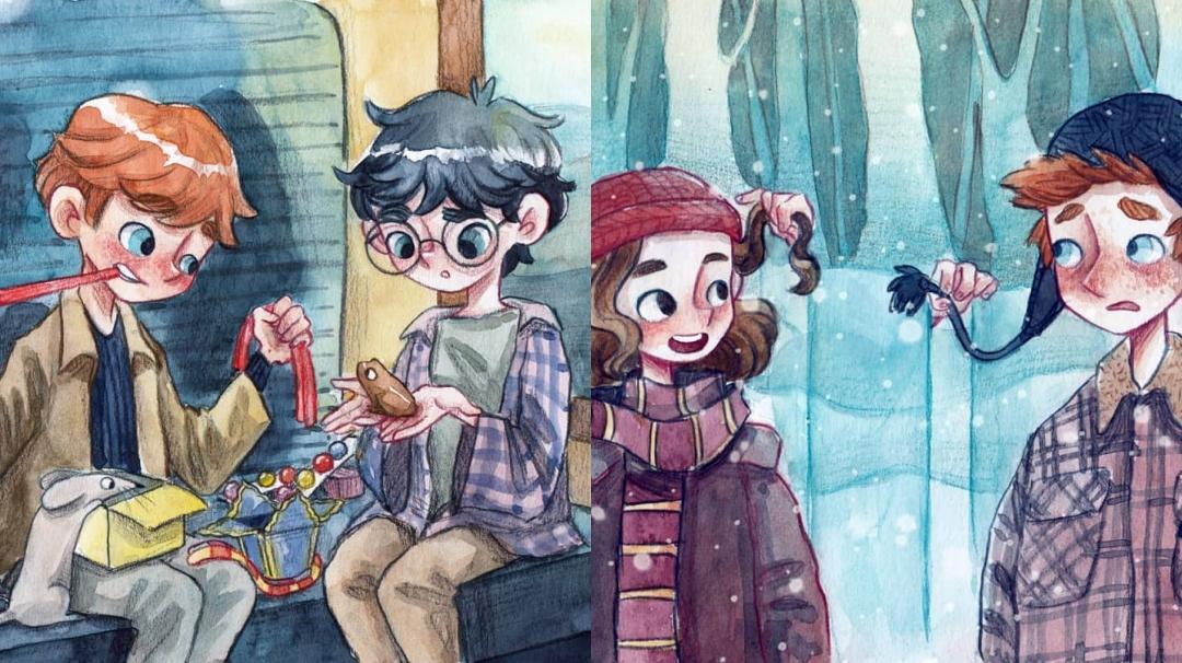 Las ilustraciones de Harry Potter de Lea