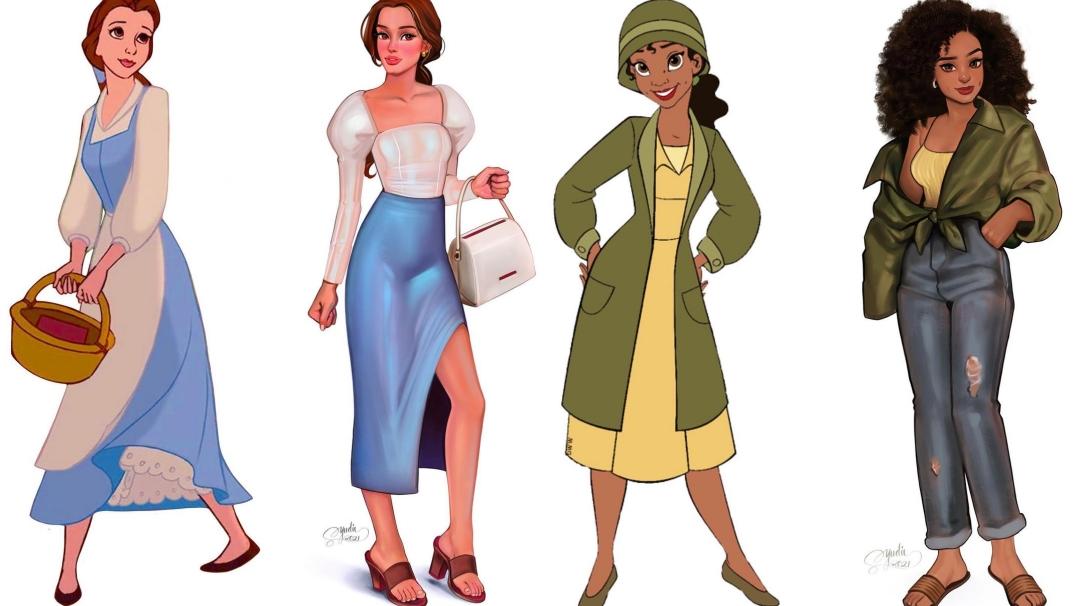 Artista se imagina a las princesas Disney en la vida real