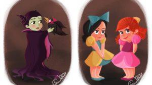 Así serían las villanas Disney de bebé