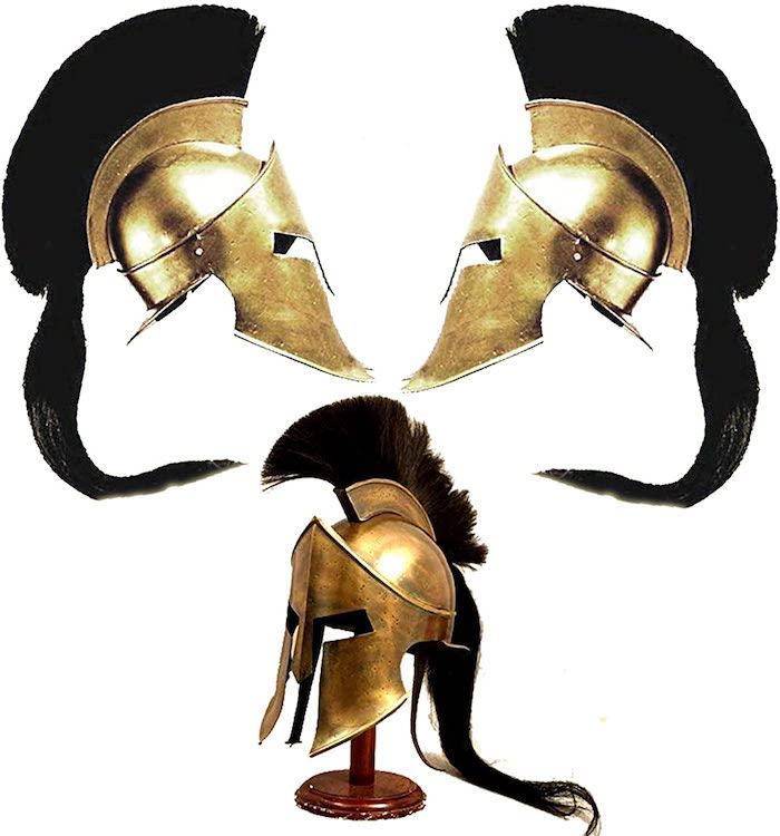 Existe una replica del casco de Leonidas