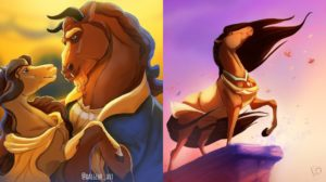 Artista se imagina a los personajes Disney como caballos