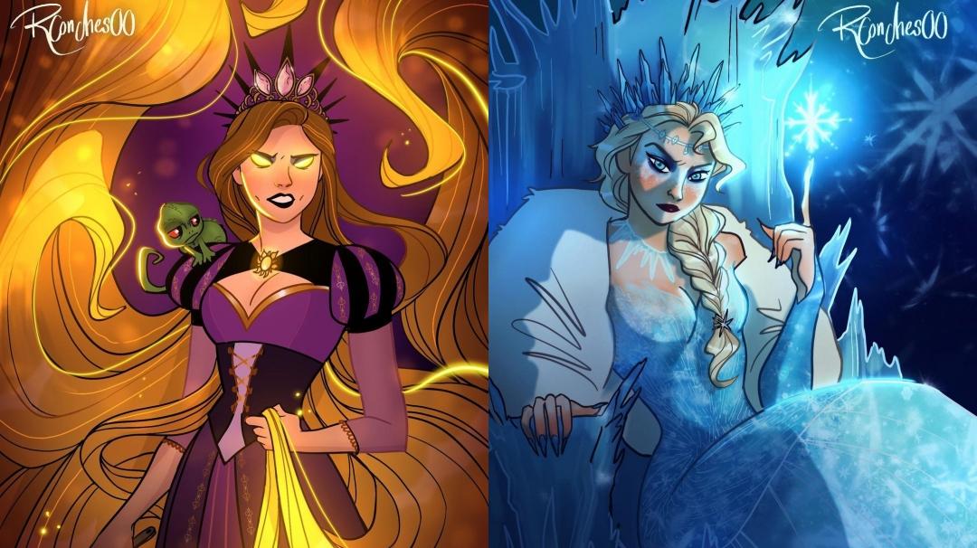 Así serían las princesas Disney como villanas