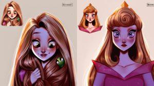 Las princesas Disney de Muzenik