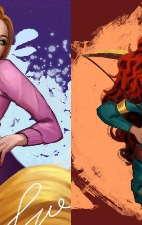 Las princesas de Disney en su versión moderna