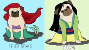 Las princesas Disney como Pugs