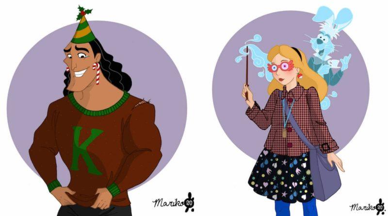 Los personajes Disney si hubieran ido a Hogwarts