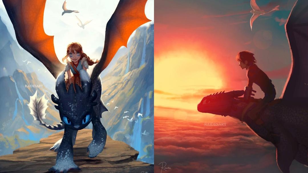 Las ilustraciones sobre dragones de Raide