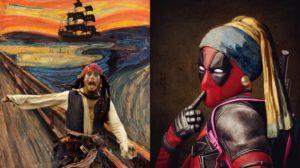 Cuando mezclas la Cultura Pop con cuadros famosos