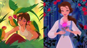 ilustraciones de Princesas Disney de Crystal