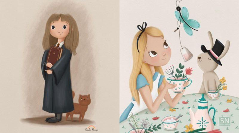 Artista hace fan arts adorables de Disney y Harry Potter