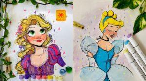 Increíbles dibujos sobre las Princesas Disney