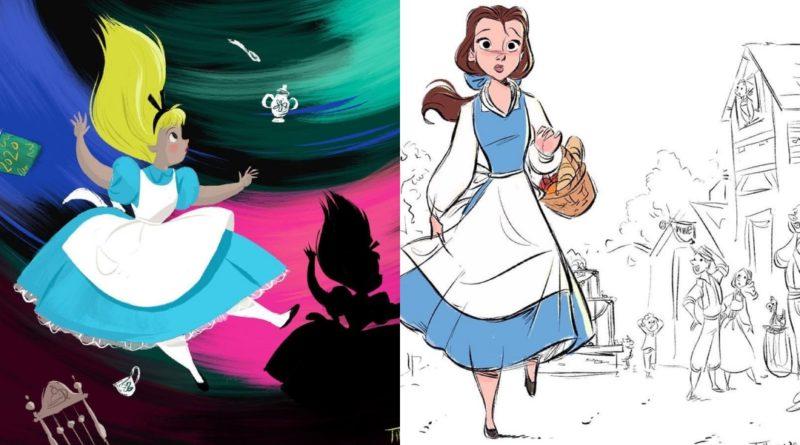 coloridas ilustraciones de Disney