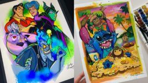 Los coloridos dibujos de Disney de Lady Chappelle
