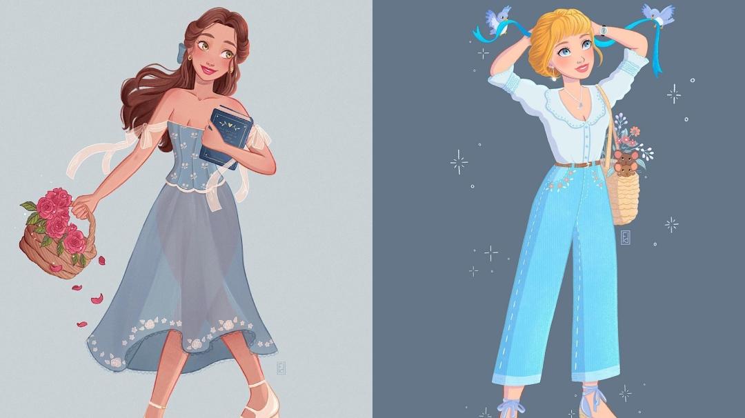 Las Princesas Disney vestidas como en nuestra época