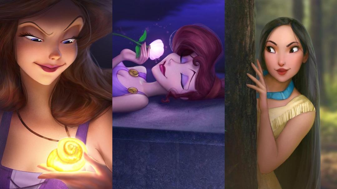 los personajes de Disney en 3D