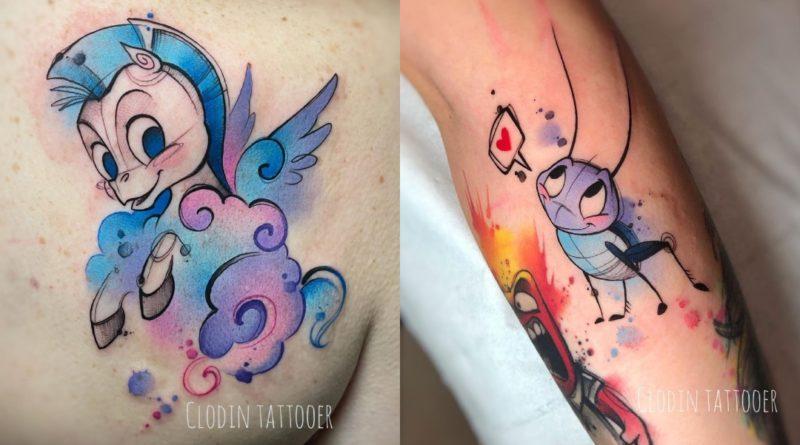 Los tatuajes a todo color de Claudia Denti