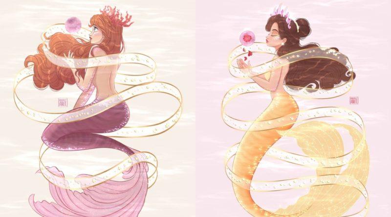 Las princesas de Disney como Sirenas