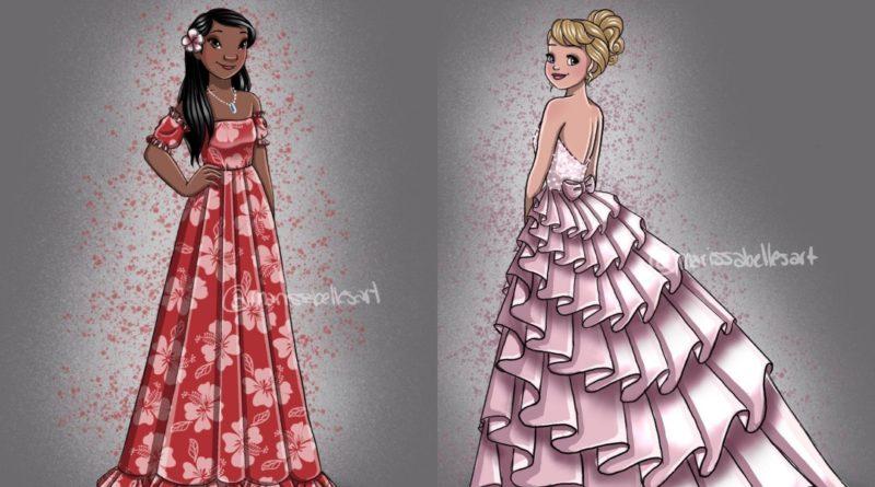 Los personajes femeninos de Disney de Marissa Belle