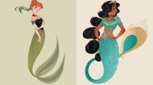 Así serían las princesas de Disney sirenizadas