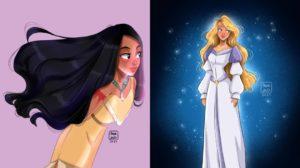 Los fan arts de princesas de MinArts