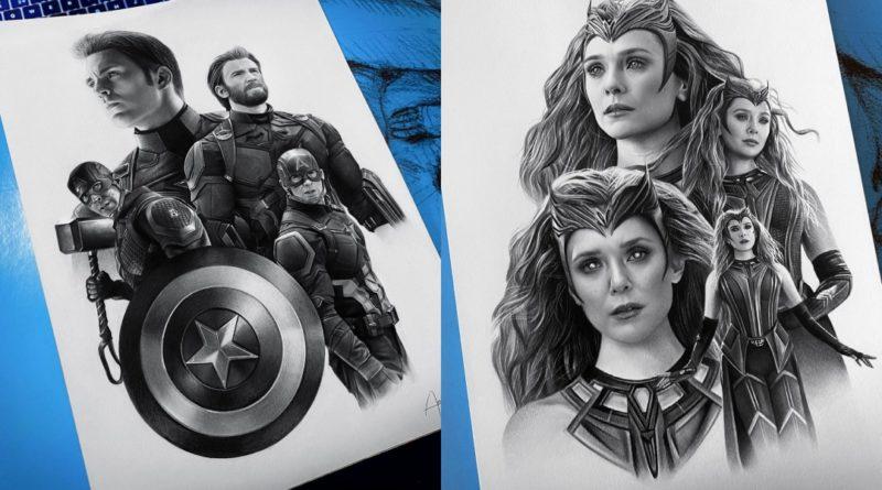Las ilustraciones sobre Marvel de Ana Miguel Mendes