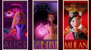 Los pósters de los clásicos Disney de David G. Ferrero