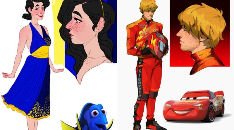 Personajes animados de la infancia si fueran personas