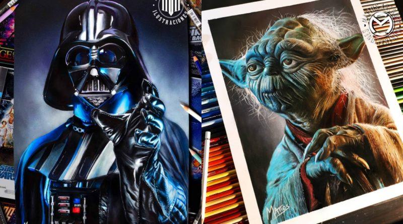 El arte sobre Star Wars de Mariano Mattos