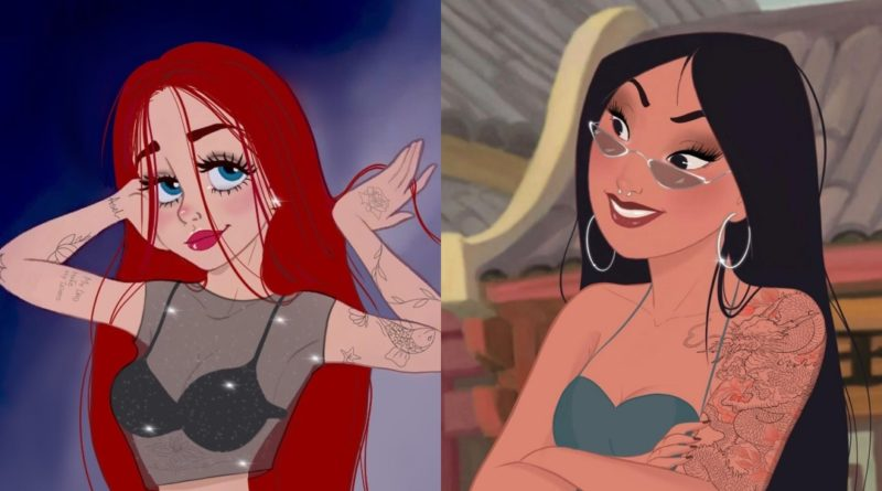 ¿Cómo serían las princesas de Disney si fueran actuales?